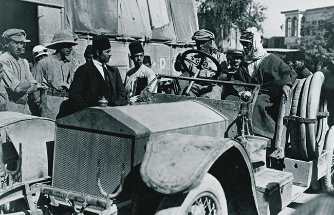 COLONEL T.E. LAWRENCE AND ROLLS-ROYCE SILVER GHOST TENDER, 1916.jpg